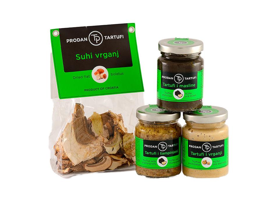 namazi s tartufima i suhe gljive - prodan tartufi