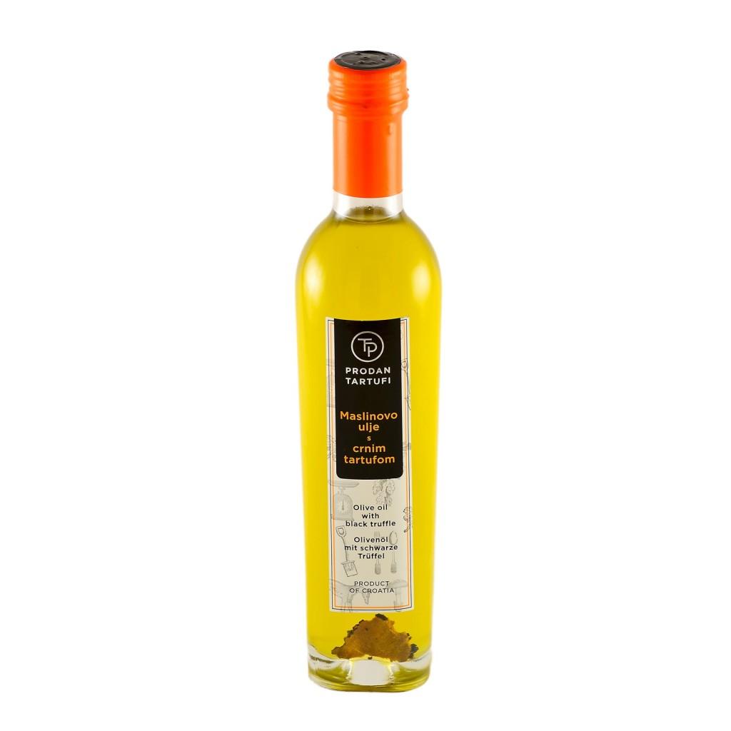maslinovo ulje s crnim tartufom - prodan tartufi